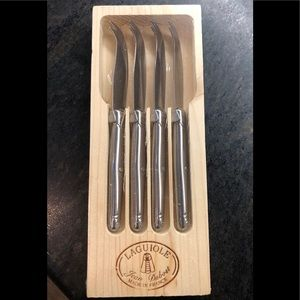 New Laguiole ® Stainless Steel Cheese Knives